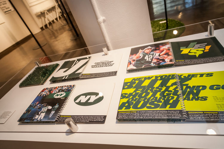 Michael Bierut SVA Exhibition New York Jets
