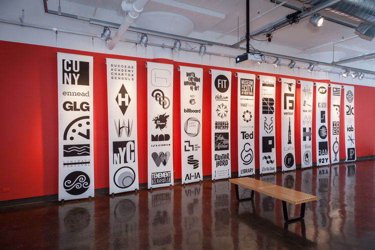Michael Bierut SVA Exhibition Corporate Logos
