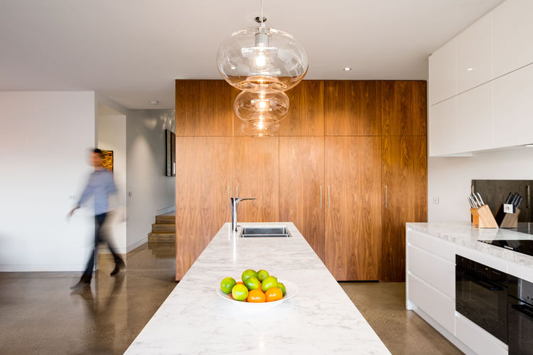 Melbourne Middle Park House Addition kitchen marble island