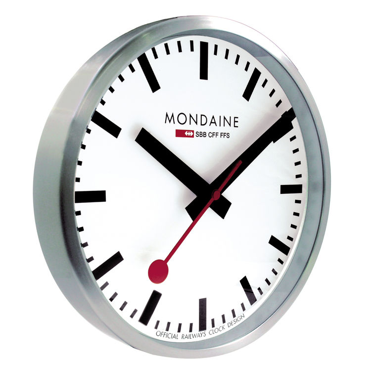 Iconic Swiss Railway clock with red paddle