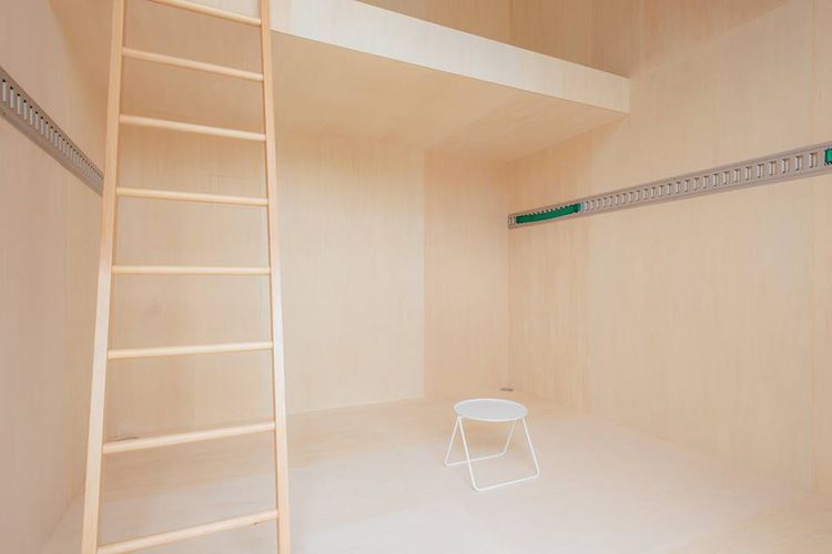Muji Hut by german designer Konstantin Grcic, interior view.