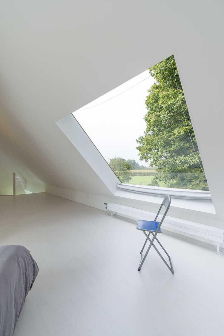 Netherlands home bedroom and skylight