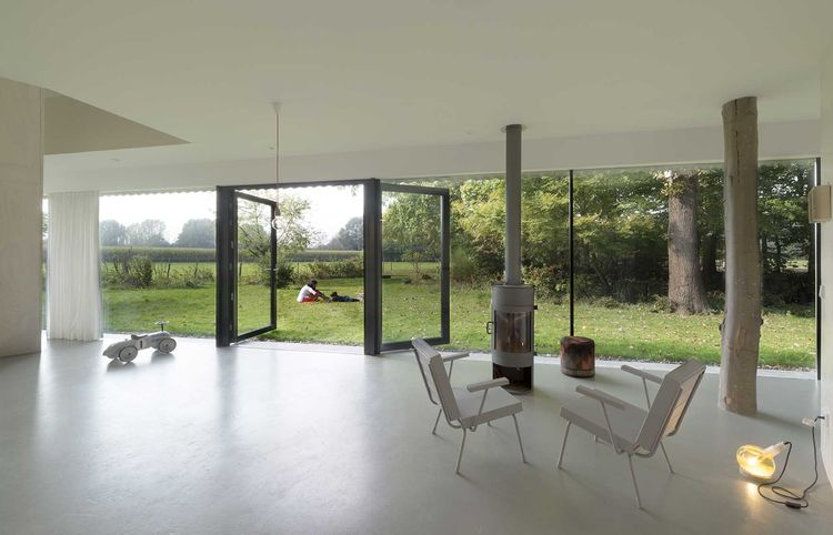Netherlands house with a panoramic window