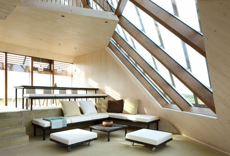 Lounge and dining area in the Netherlands dune house