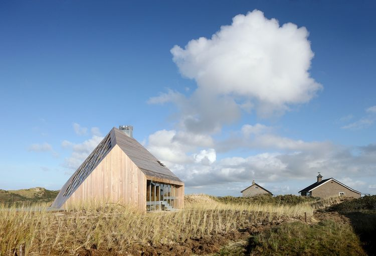 Netherlands dune house and its landscape