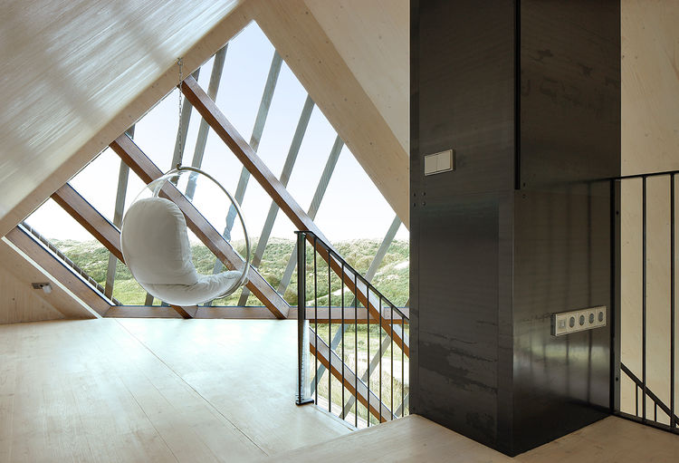 Viewing platform in the Netherlands dune house