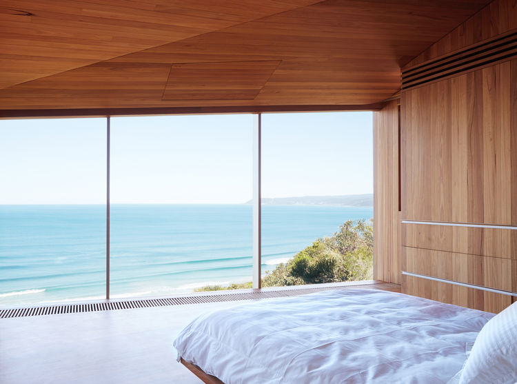 modern fairhaven beach house blackbutt eucalyptus master bedroom