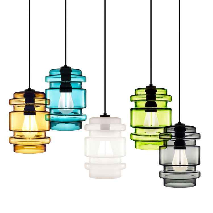 Hand-blown glass sculptural pendant lights