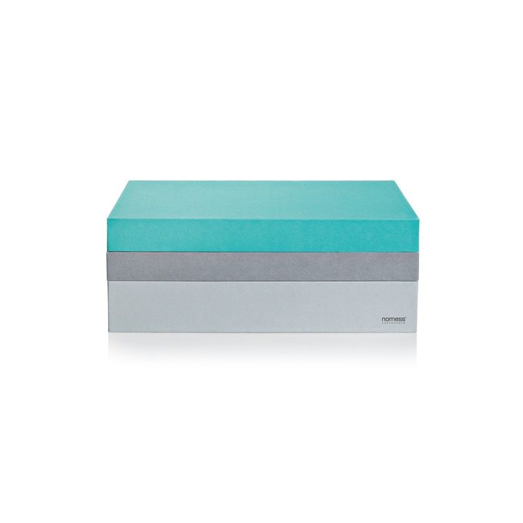 Colorful storage box with three layers
