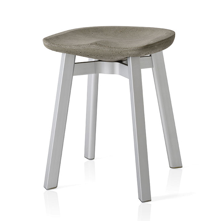 modern made in america products USA northeast emeco SU small stool concrete