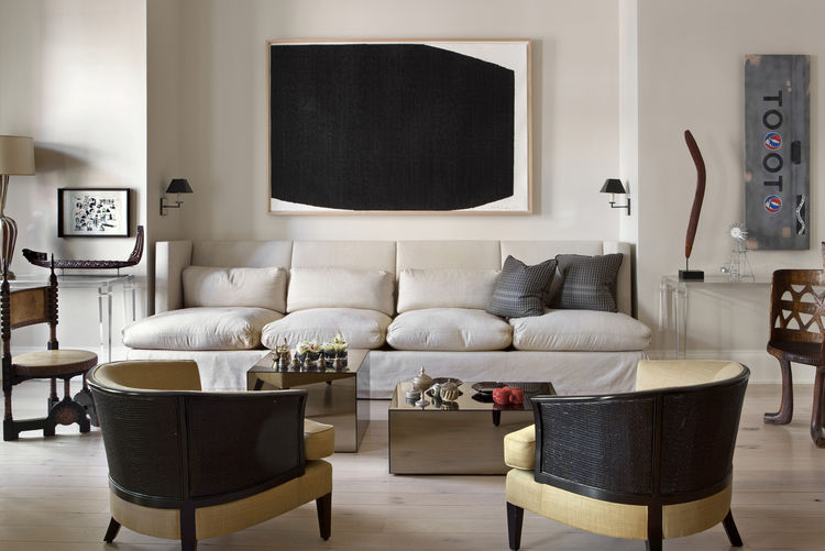Sandra Nunnerley Living Room with a Richard Serra above couch