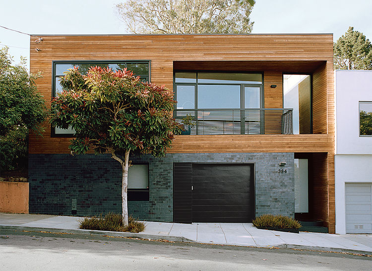 San Francisco residence with a cedar and tile exterior
