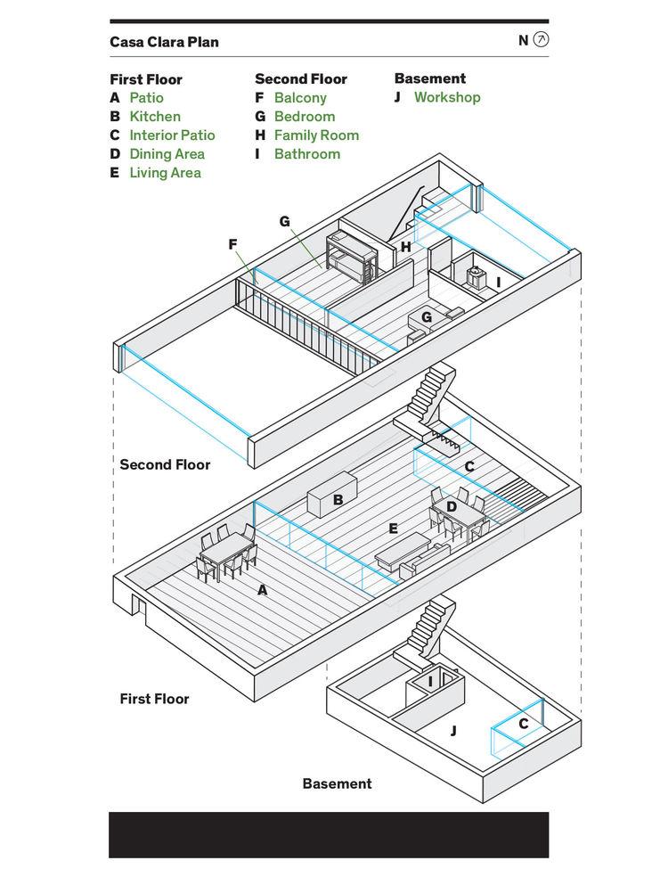 Floor plan of Casa Clara.