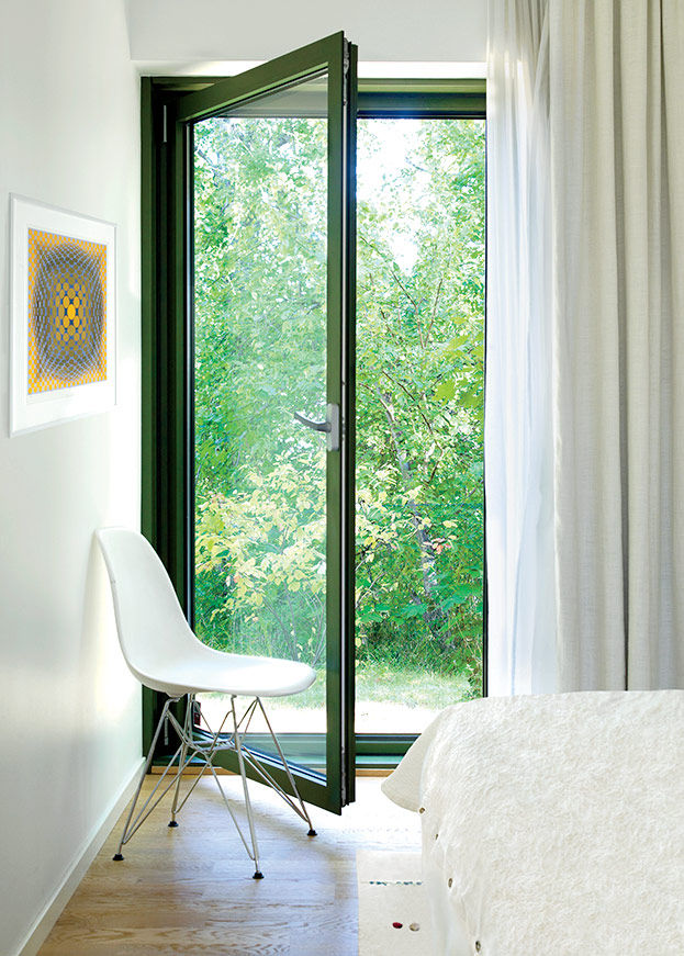 Swedish Prefab Home, Master Bedroom View