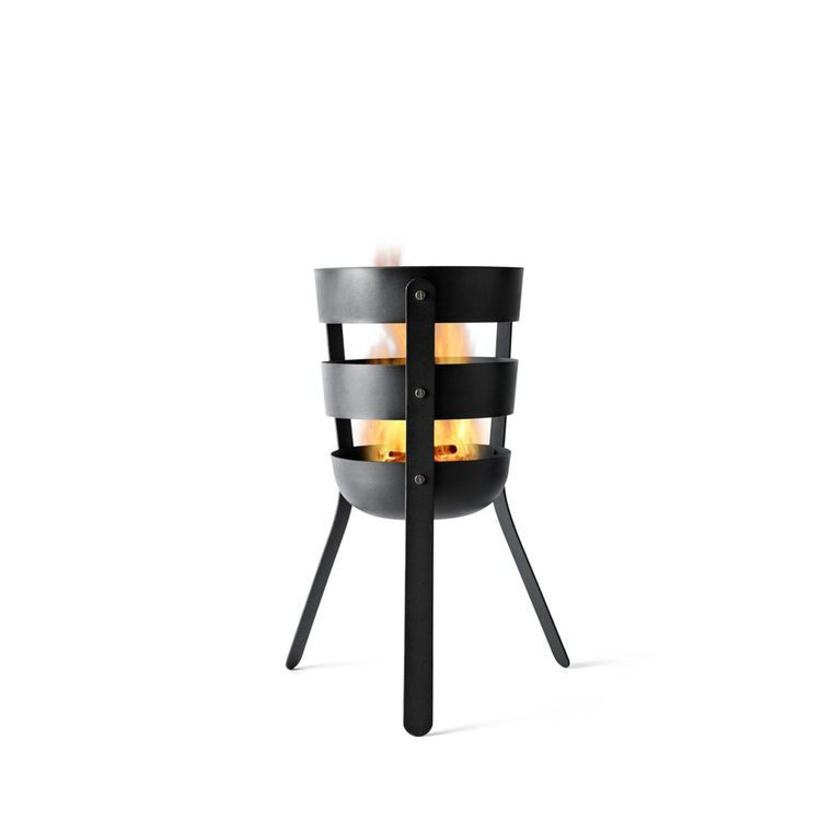 Fire basket made of oxidized steel
