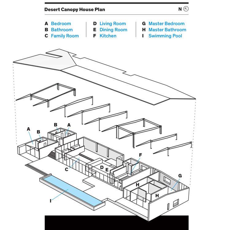 Desert Canopy House floor plan