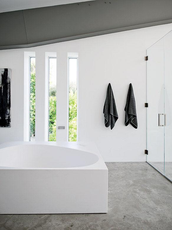 Desert Canopy House master bathroom with Boffi tub