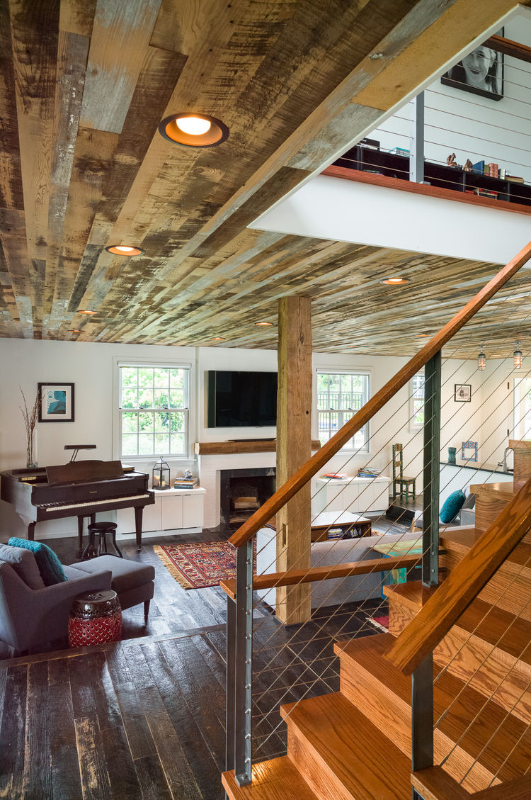 Stairs in a renovated Pennsylvania Colonial