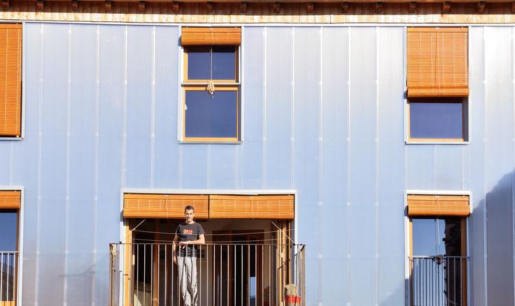 Polycarbonate facade.