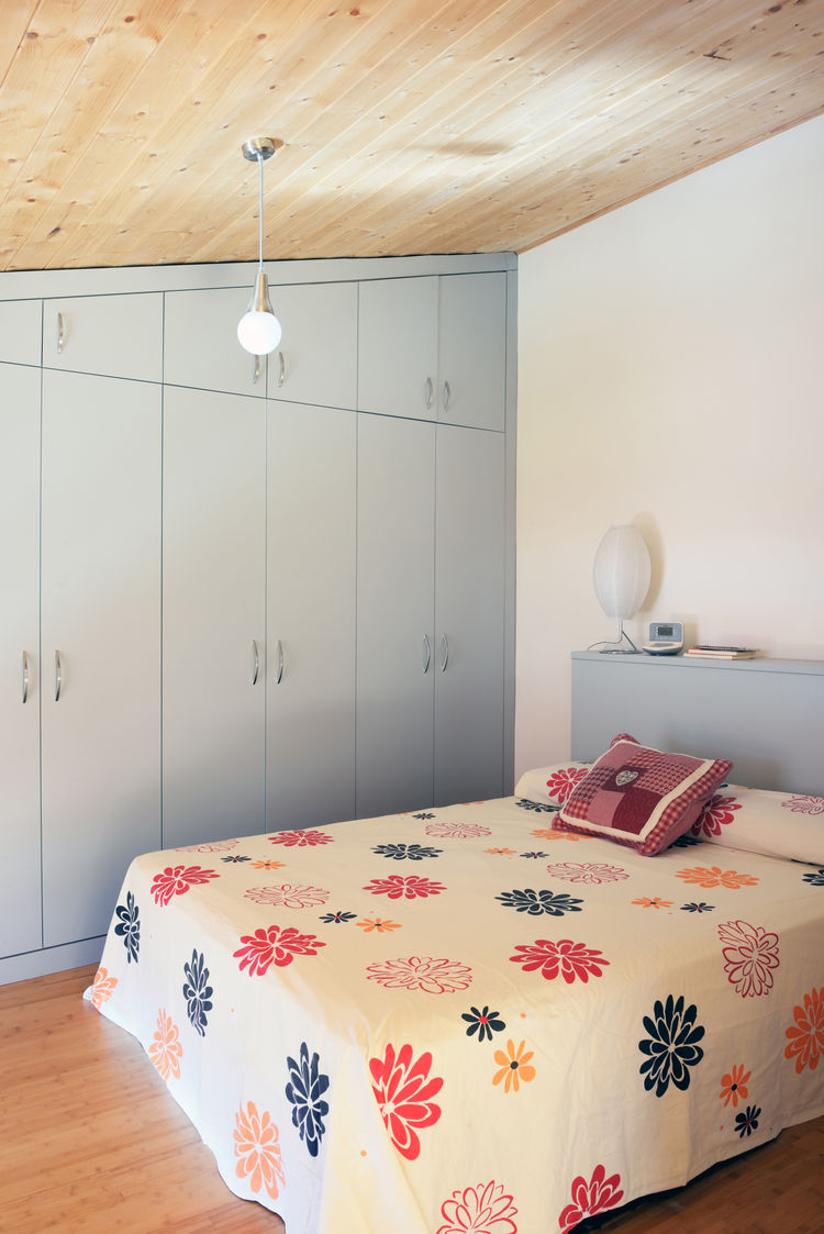 Bedroom of energy-efficient Spanish home.