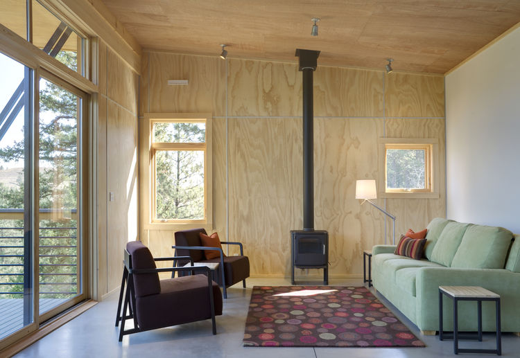 Pine Forest Cabin living area