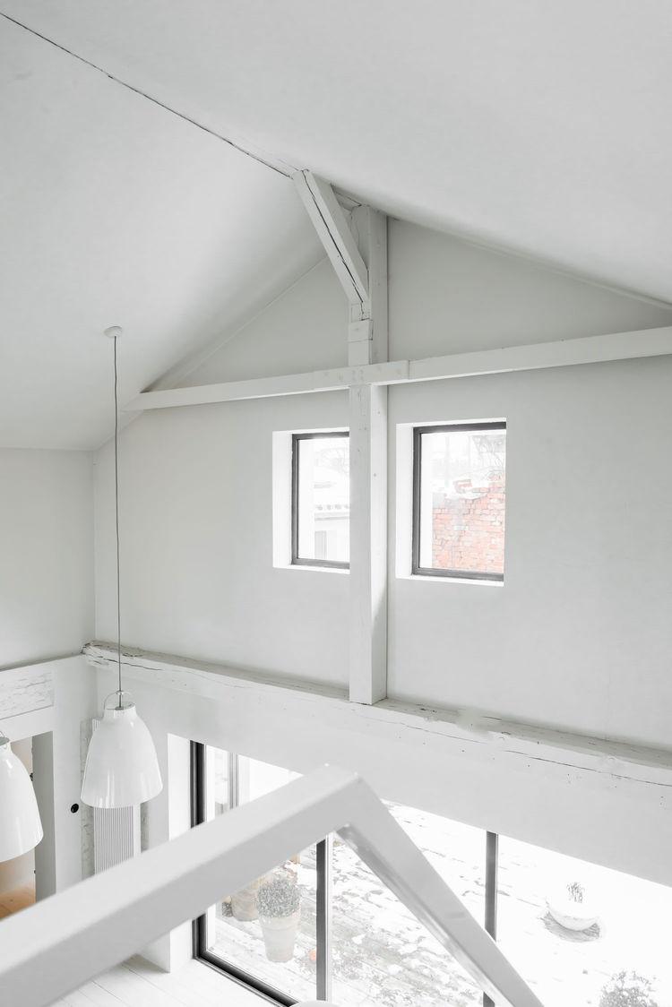 Polish Farmhouse Double Height Ceiling