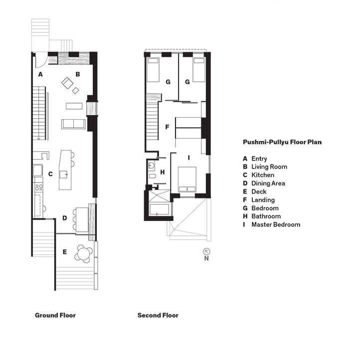 Modern Brooklyn renovation floor plans