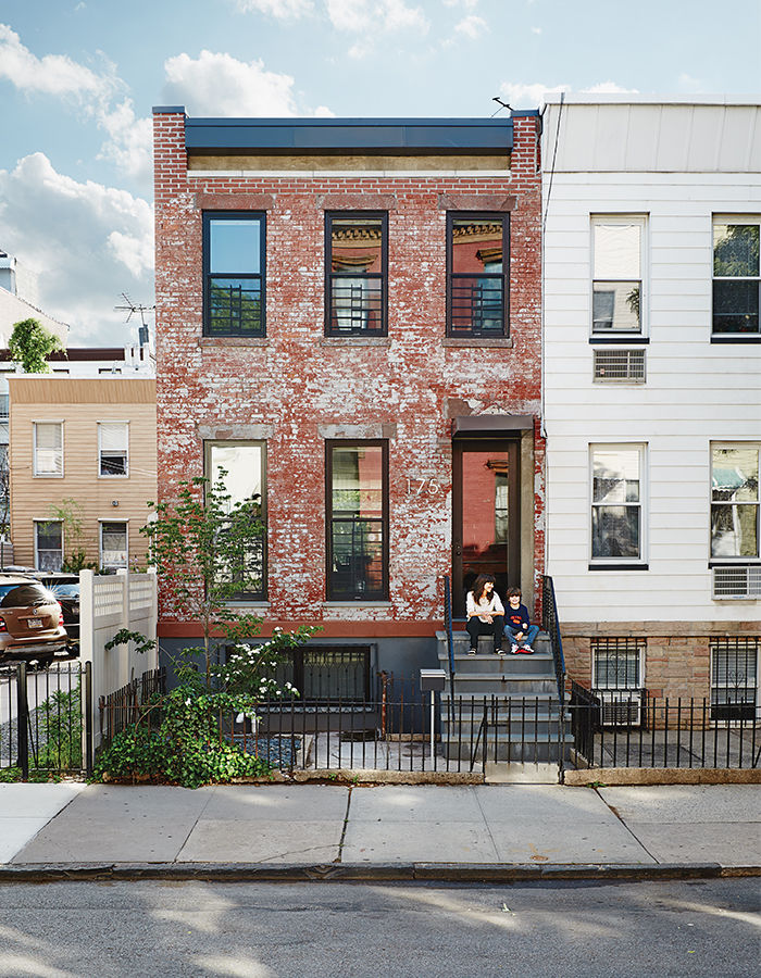 Modern Brooklyn renovation street facade