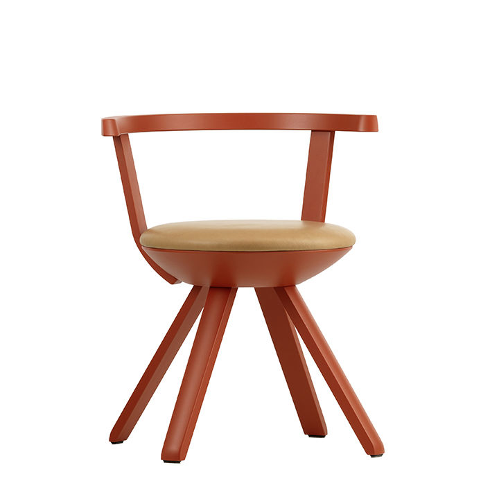 Red task chair by Konstantin Grcic for Artek.