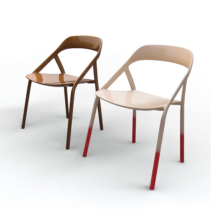 Lightweight stacking chair by Michael Young.