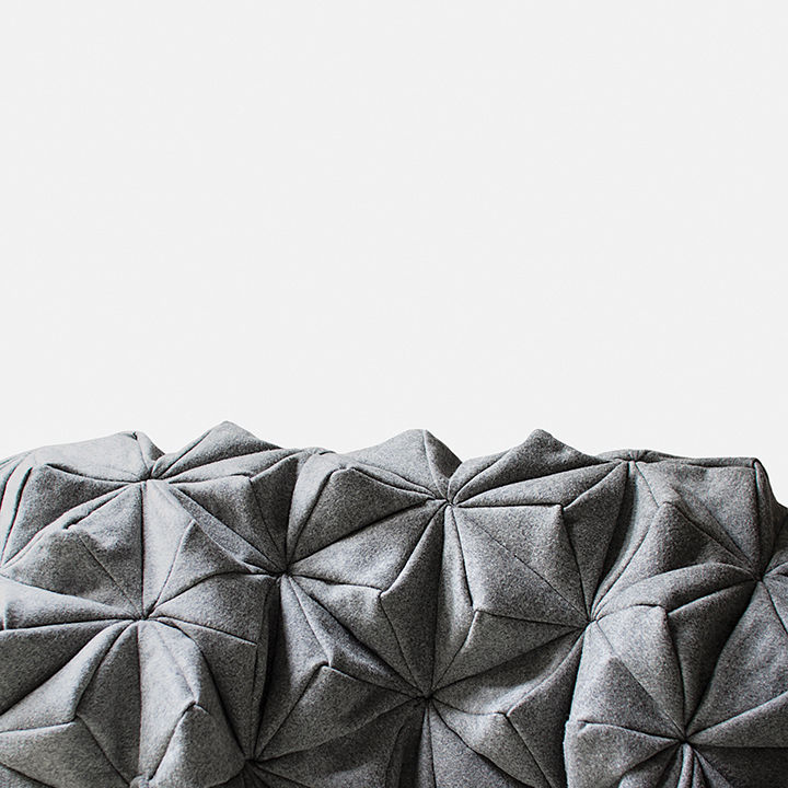 modern furniture design texture oak form bloom blanket