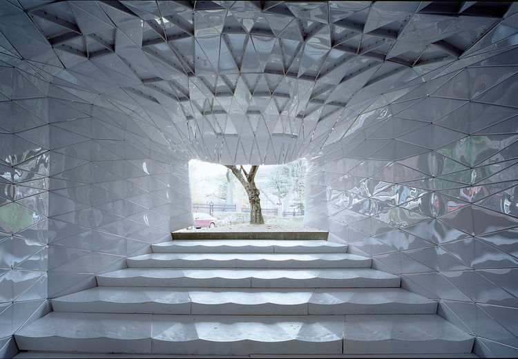 Polycarbonate panel theater by MOS Architects.