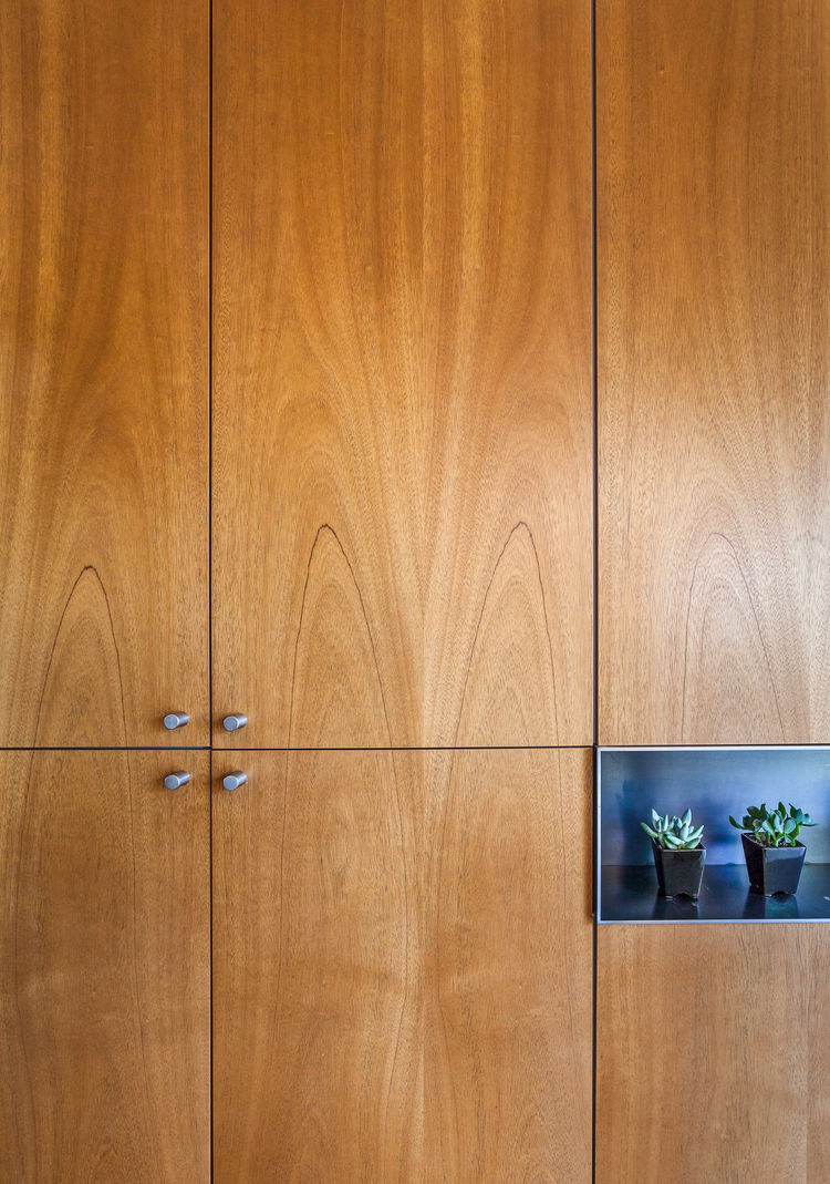 Cabinets with carefully matched grain