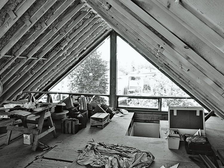 Triangular attic space above a Vancouver house