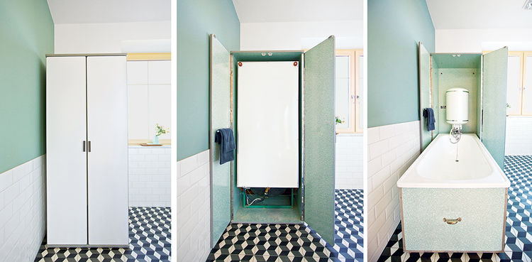 Reckendorfer Residence Austria renovation Murphy tub hinge