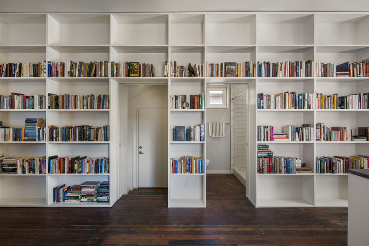 Red House built-in shelving