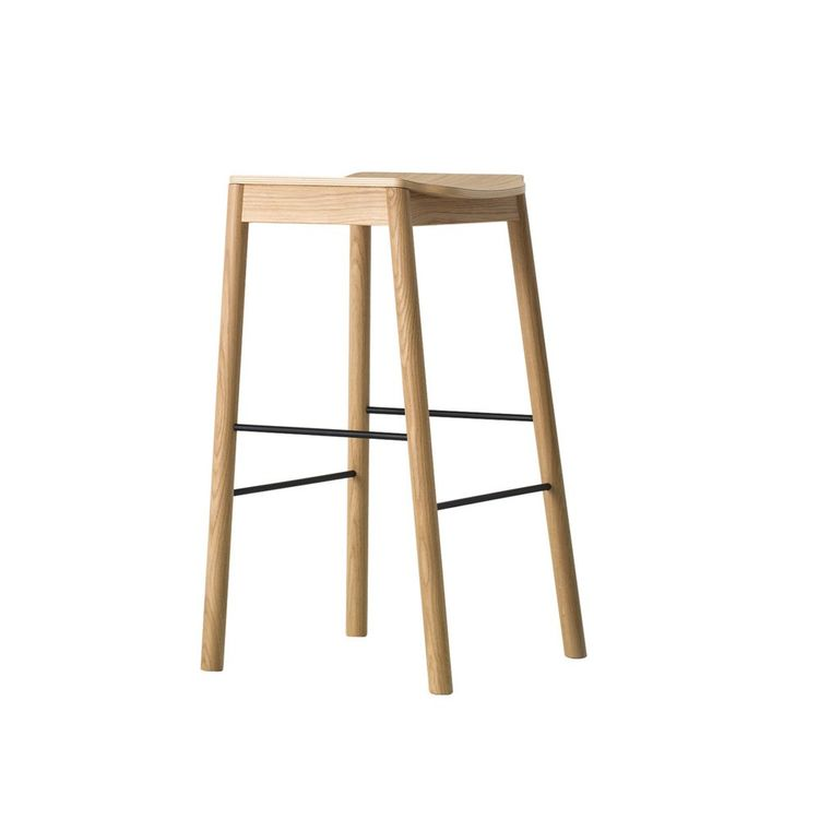 Simple stool with thougtfully sloped seat