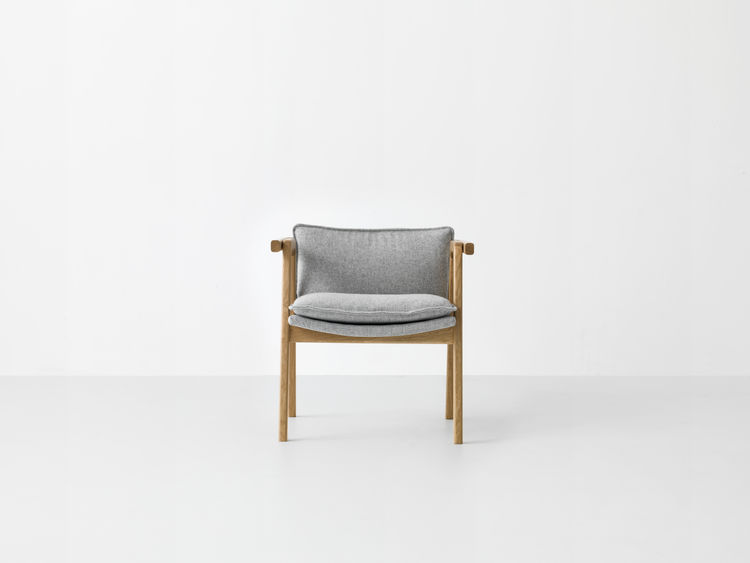 Simple lounge chair with removable upholstery