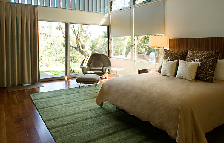 Los Angeles Ranch House Master Bedrom