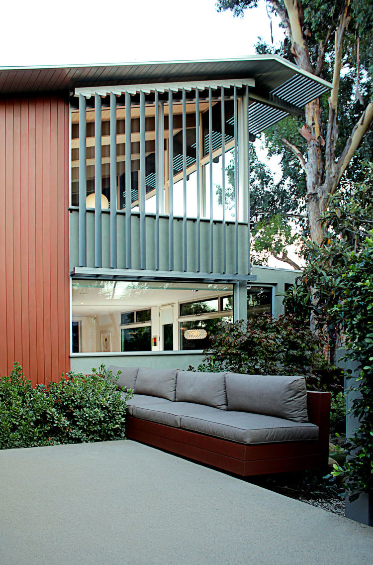 Los Angeles Ranch House Addition exterior rear patio