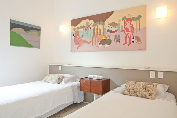 Double bedroom in a modern Rio de Janeiro apartment