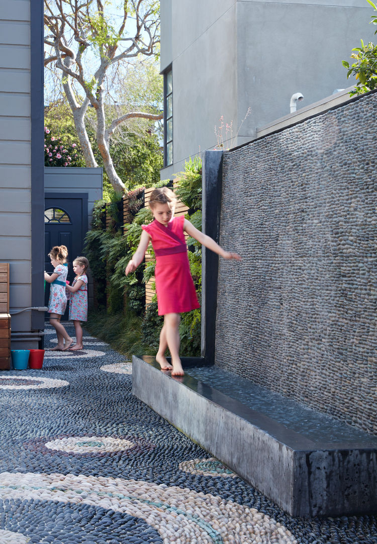 A water wall in a San Francisco home