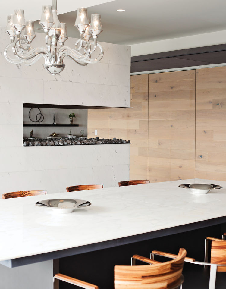 modern houses we love dining room marble walnut chandelier