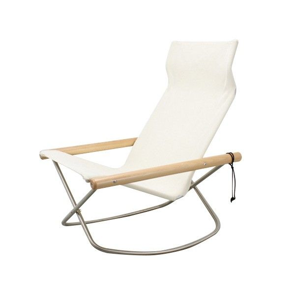 Modern rocking chair inspired by traditional director's chair