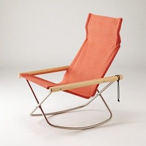 Rocking chair inspired by original director's chairs