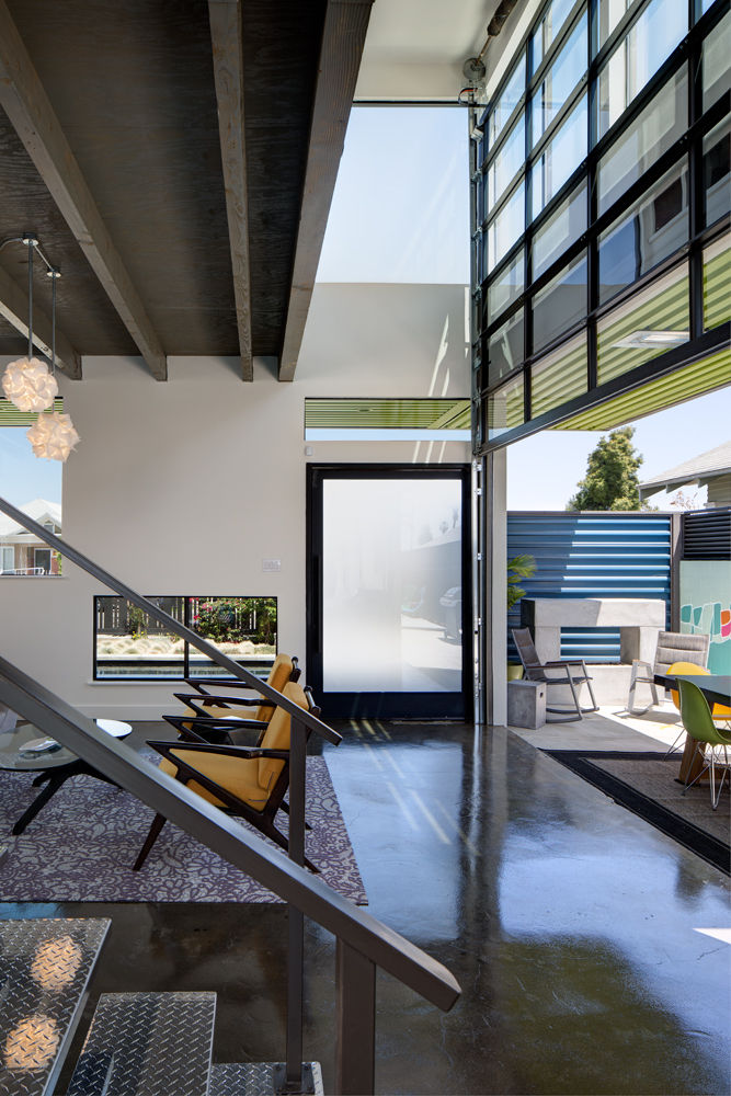 Double height ceilings in a renovated San Diego house