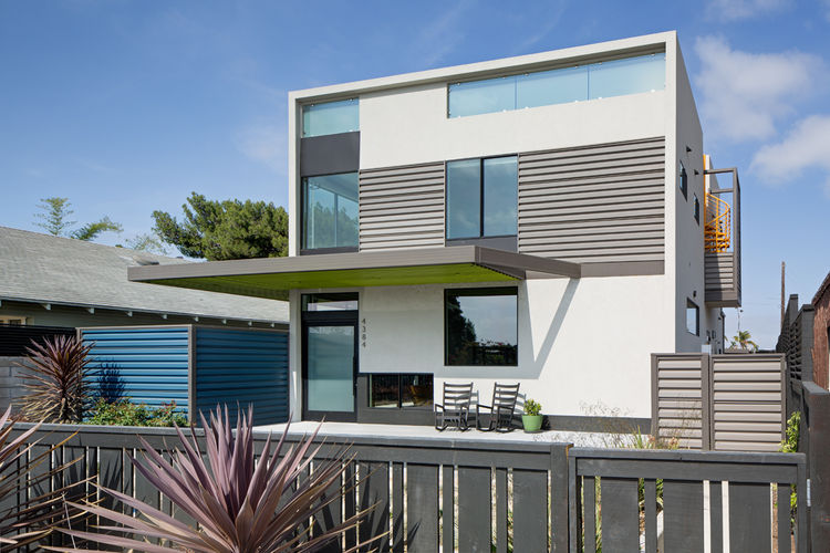 Exterior of a renovated San Diego house