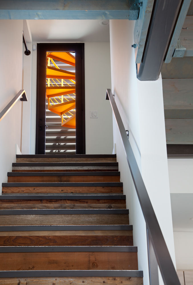 Stairway in a renovated San Diego house