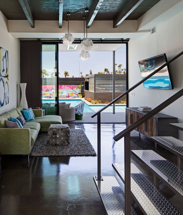 Living room in a renovated San Diego house