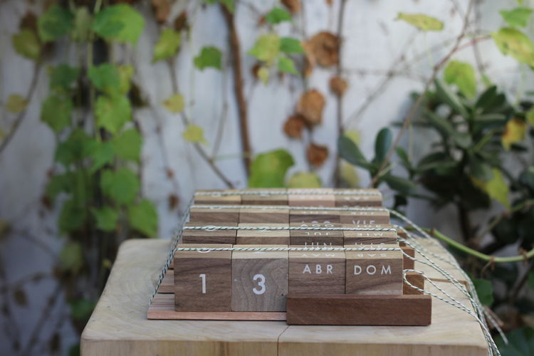 Recycled Wood Calendar from Sarmiento
